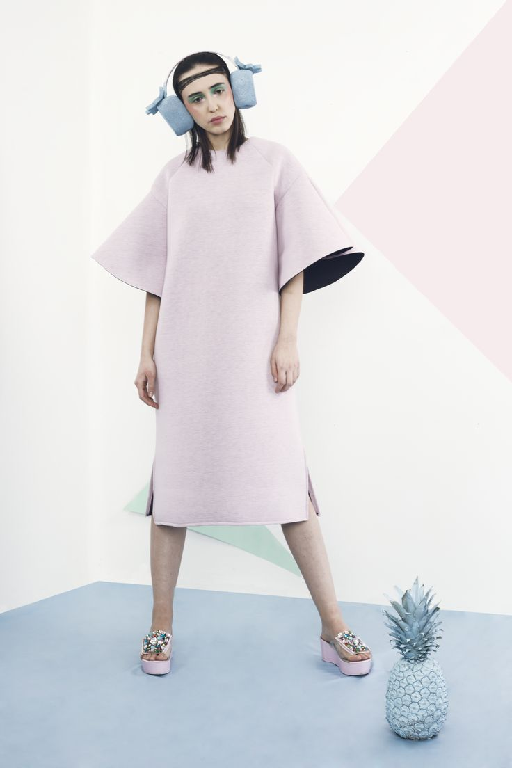 Spoff SS 2016. Soft Power.  Combining performance sportswear and kitsch, creates a super chic and modern look,with a touch of lollypop. soft pop trend summer pastels pink blue pineapple fashion