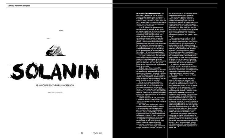 Comic: SOLANIN  #editorial #comic #lettering #calligraphy #handlettering #editorialdesign #solanin #brushpen #blacknwhite #minimaldesign #minimal