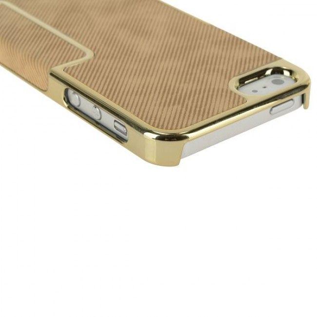 Carbonite - Golden Chrome Edge (Ruskea) iPhone 5S Suojakuori - http://lux-case.fi/carbonite-golden-chrome-edge-ruskea-iphone-5-suojakuori.html