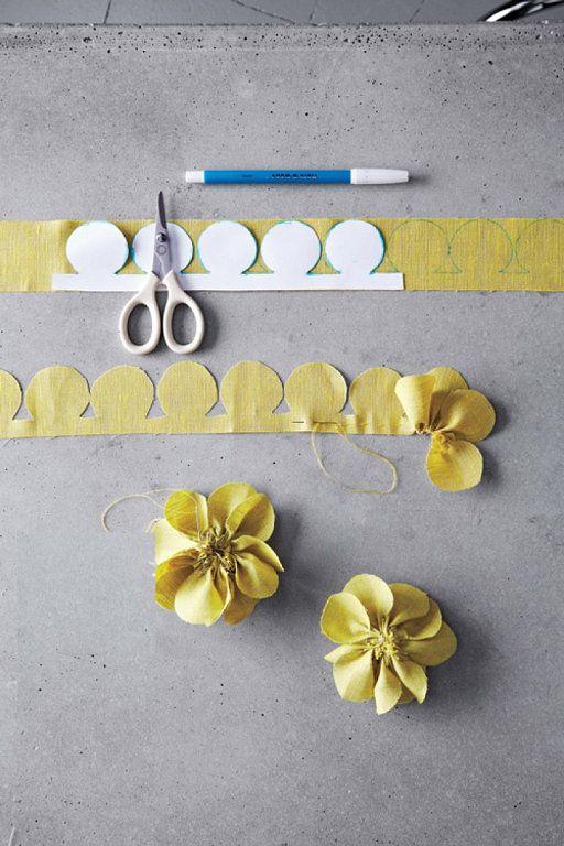 Tutorial para hacer flores de tela |