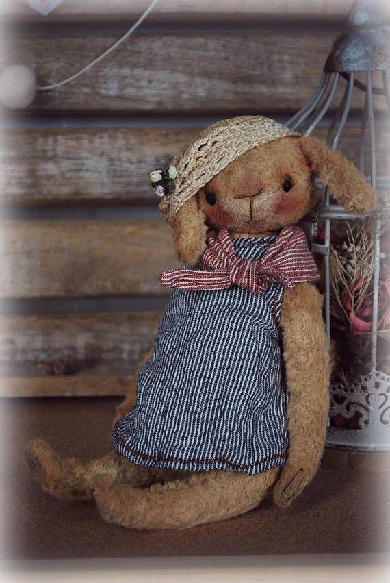 Rosie : OOAK Vintage Style Sweet Artist Bunny Rabbit by