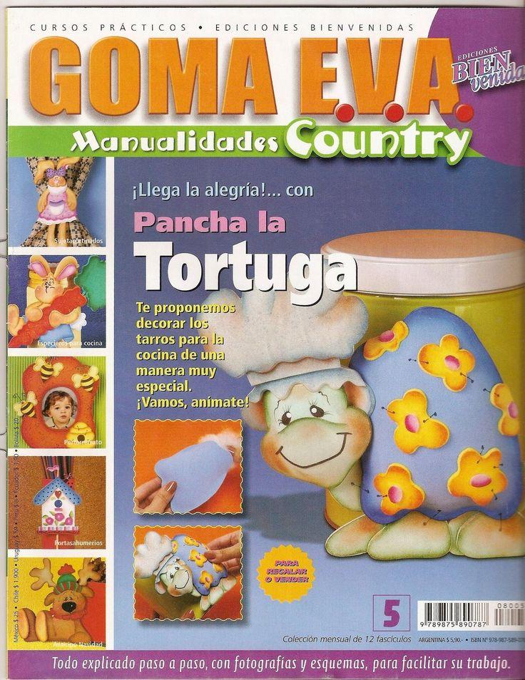 Revistas de Manualidades Para Descargar: Goma Eva Manualidades Country N°5