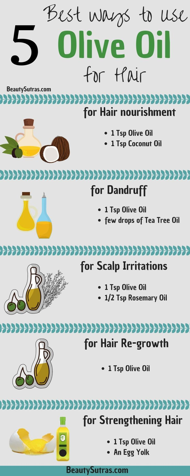 5 Best Ways to use Olive Oil for Hair