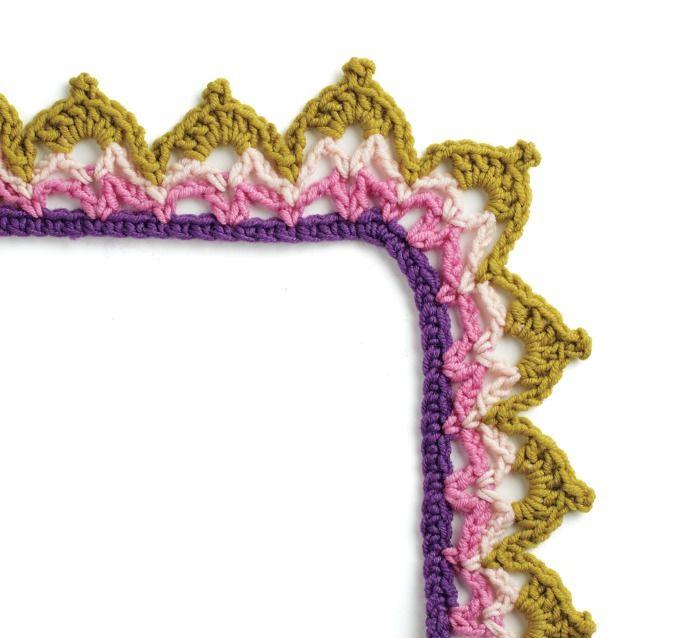 184 best Crochet edges images on Pinterest | Crochet afghans ...