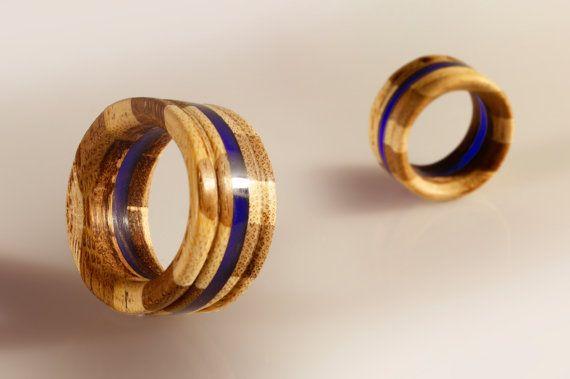 anello unisex gioiello artigianale intarsio di SPhandmadejewelry