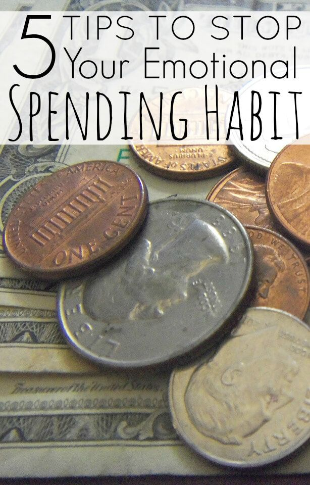 5 Tips To Stop Your Emotional Spending Habit. People take part in emotional spending for many different reasons. You might have had a bad day at work, a fight with your loved one, and so on. You might even be spending because you are so stressed out about the amount of credit card debt you have racked up.