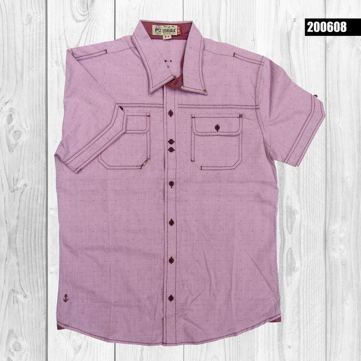 camisa-hombre-manga-corta-color-palo-de-rosa-200608