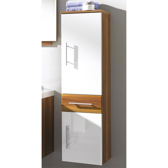 impuls walnut white tall bathroom cabinet 6273 huge range of bathroom cabinets with free uk delivery from furniture in fashion - Bathroom Cabinets Tall