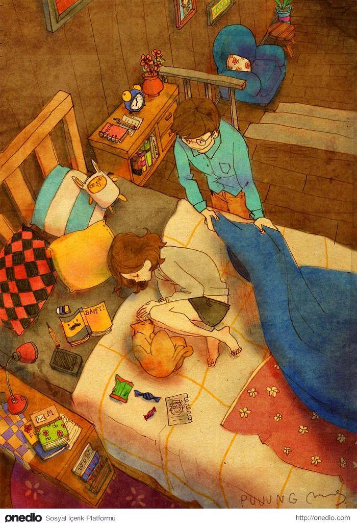 Ya da uyurken, tam da ürpermişken, üzerinizde hissettiğiniz o battaniye