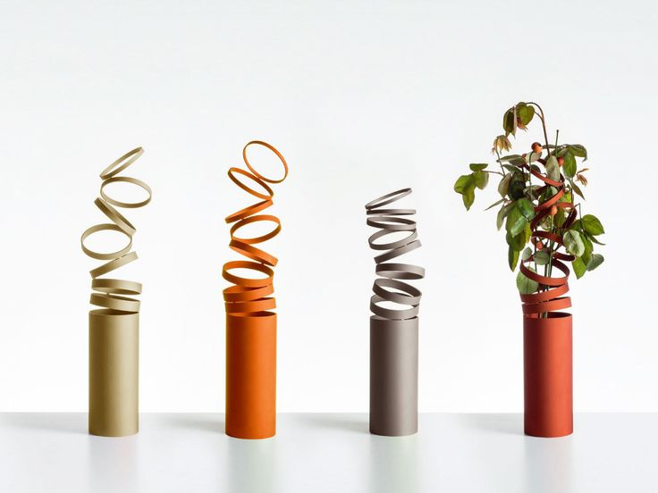 With his its ever thinning rings and upward progression, this seemingly weightless vase, designed by Swiss design studio Atelier Oï, alludes to growth.