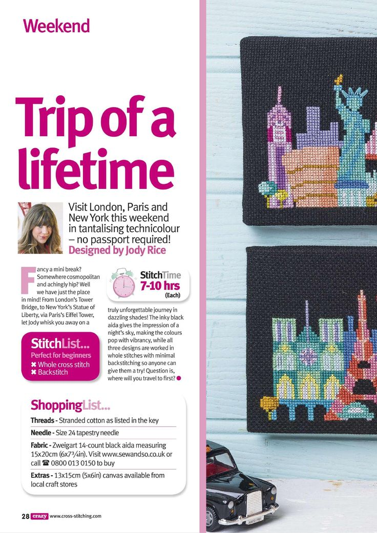 Trip Of A Life Time (Jody Rice) From Cross Stitch Crazy N°202 May 2015 1 of 4