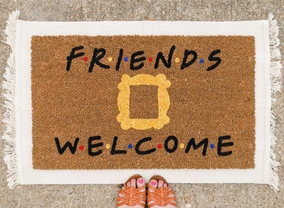 Friends Welcome Doormat Friends Doormat Cute Doormat Custom Doormat Funny Doormat Funny Welcome Mat Housewarming Gift Door Mat Custom Doormat Funny Welcome Mat Coir Mat