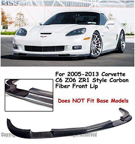 Amazon Com Zr1 Style Carbon Fiber Front Bumper Lower Lip Kit Splitter Spoiler Wing For 05 13 Chevrolet Corvette C6 Z0 Chevrolet Corvette Corvette Carbon Fiber