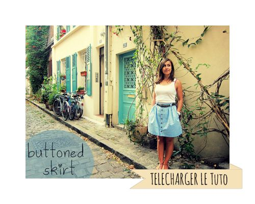 Buttoned Skirt : le tuto - By Maggot
