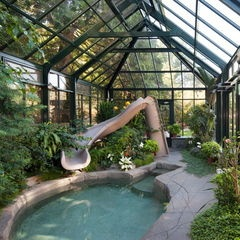 Interior Shot Of Greenhouse Pool Cover By Bc Greenhouse Builders