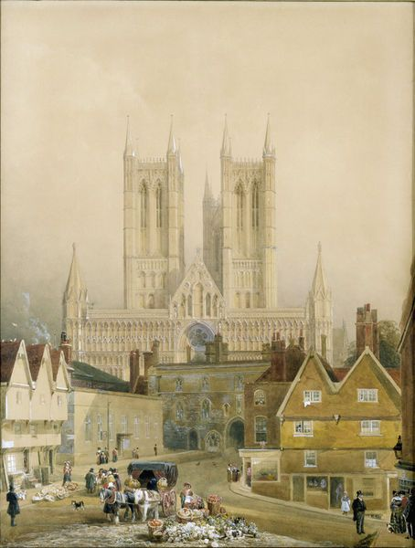 Watercolour of Lincoln Cathedral