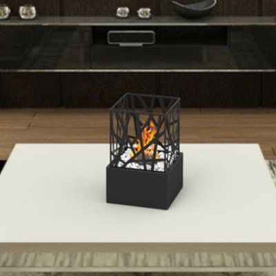 RegalFlame Bruno Ventless Portable Bio Ethanol Tabletop Fireplace Finish: Black