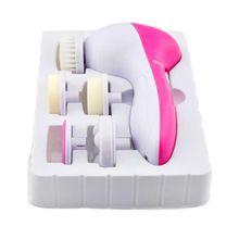 Escova Facial 5 em 1 Massager Facial wash escova Scrubber com Látex Escova Cosmética Esponja de Limpeza facial pore cleaner Facial(China (Mainland))