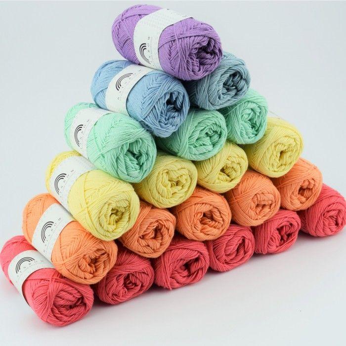 Rainbow Cotton 8 4 From Hobbii Yarn For Sale Yarn Colors