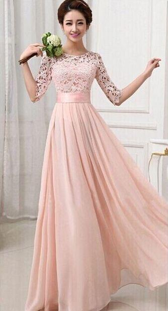 Simple Elegant Hollow Flower Dinner Dress