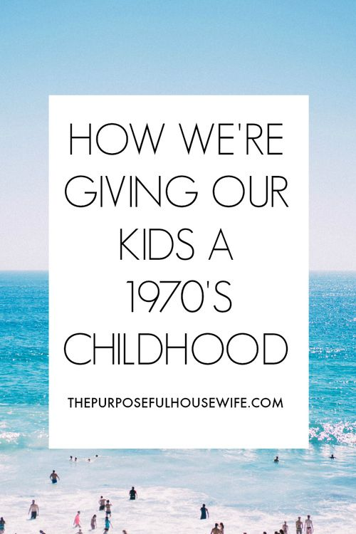 We're giving our four kids a vintage childhood. It's unplugged, it's spent mostly outside, it's low-tech, and it's taught them to do what children were made to do - play really well. Click through to read how my husband and I limit technology and are giving our kids a 1970's childhood in a tech-crazy world.