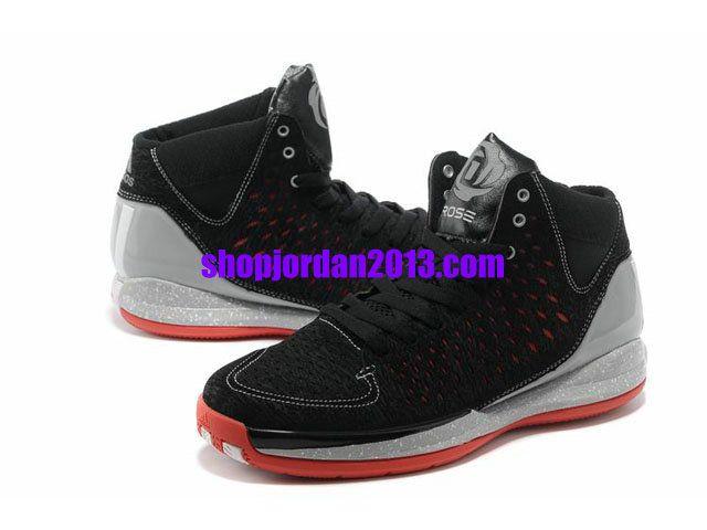 Adidas AdiZero Rose 3.0 Shoes Black/Gray/Red Cheap NBA Basketball Shoes  #Black