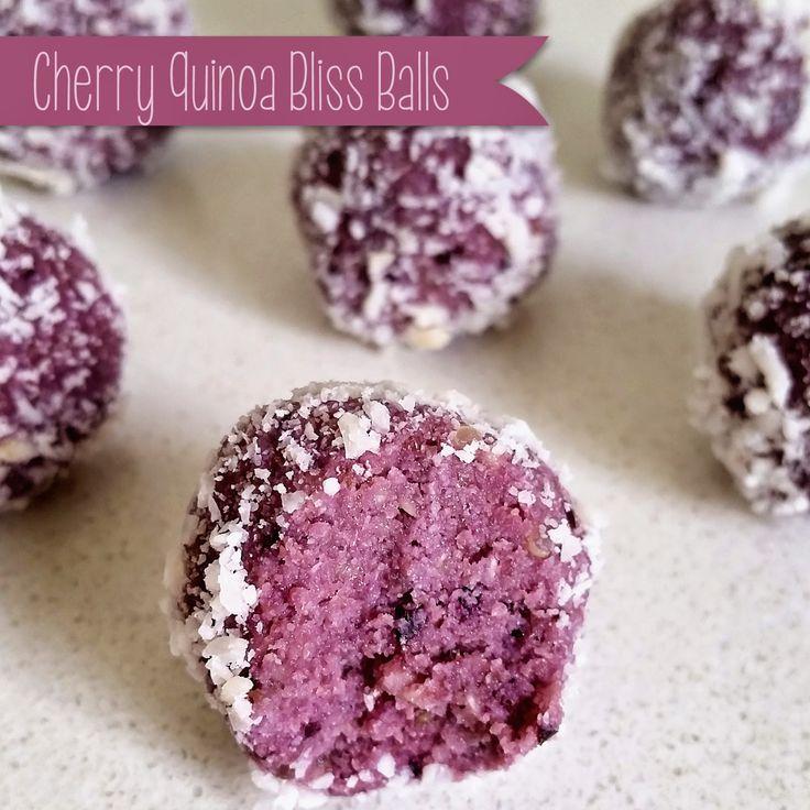 A Little Bit Of Homemade Heaven: Cherry Quinoa Bliss Balls. Only 50 calories per ball!!!!!
