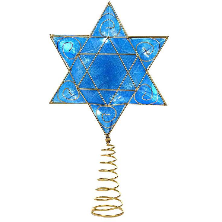 Kurt Adler 13-Inch Battery-Operated Deluxe Hanukkah Tree Topper®