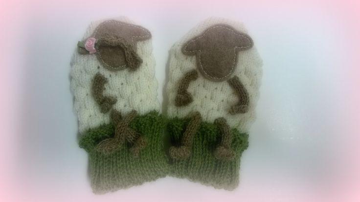 Little BaaBaa mittens ... little baa-boy & baa-girl :)