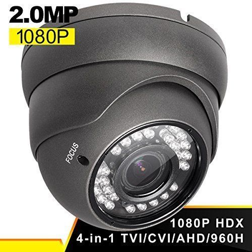 Home Security Dome Camera Waterproof Outdoor Surveillance HD 1080P Night Vision #HomeSecurityDomeCamera