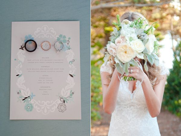 La Jolla Beach Wedding - mint and ivory colors