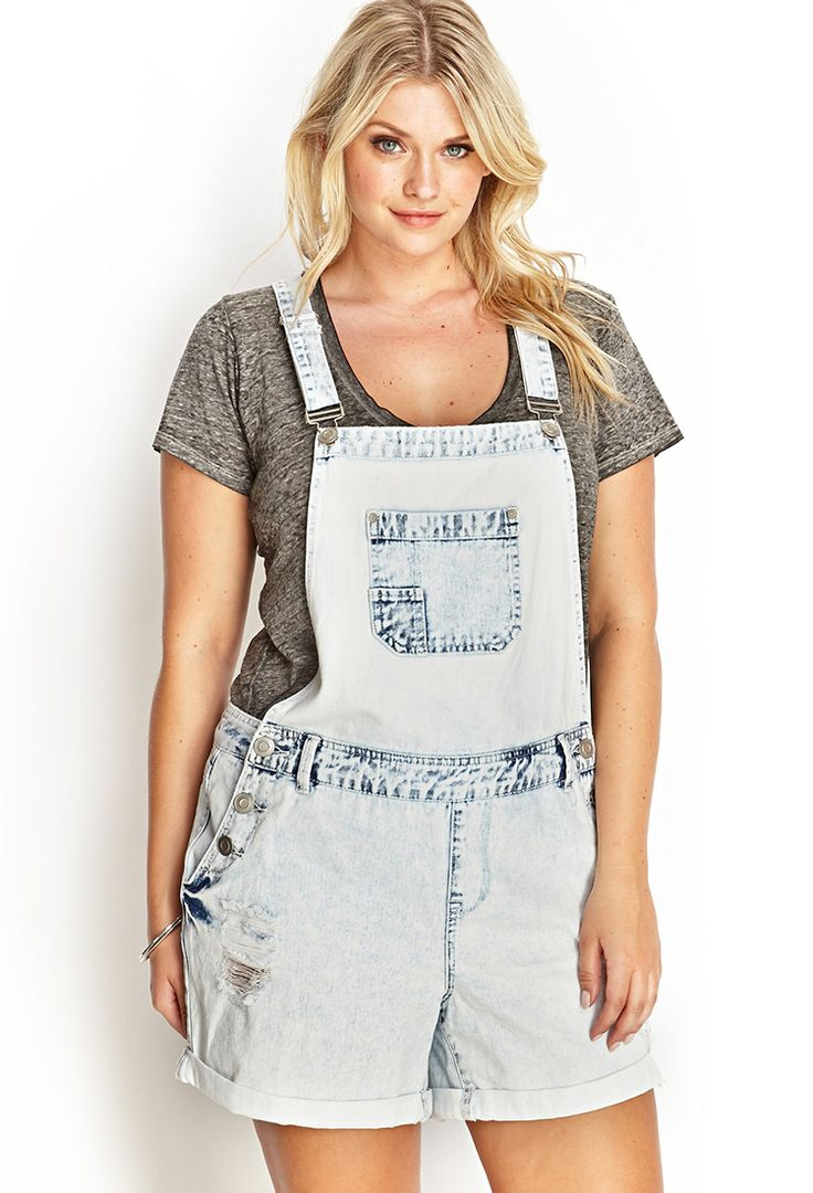 Bleached Overall Shorts | FOREVER21.($29). I can get these from the thrift store for less than. ($3)and bleach them myself