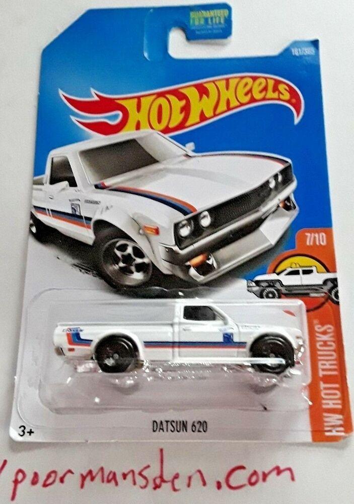2015 Mattel Hot Wheels White Datsun 620 Pickup Truck 164 Die Cast