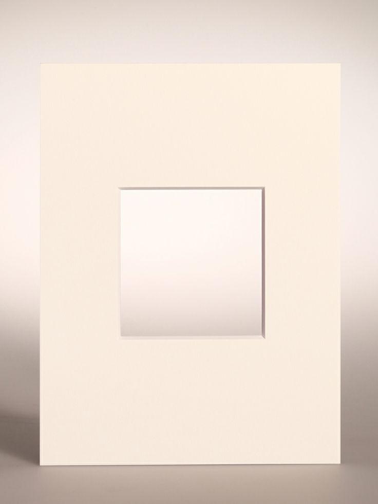 PASSEPARTOUT bianco 18x24 cm con foro centrato per Polaroid/Impossible 600 SX-70