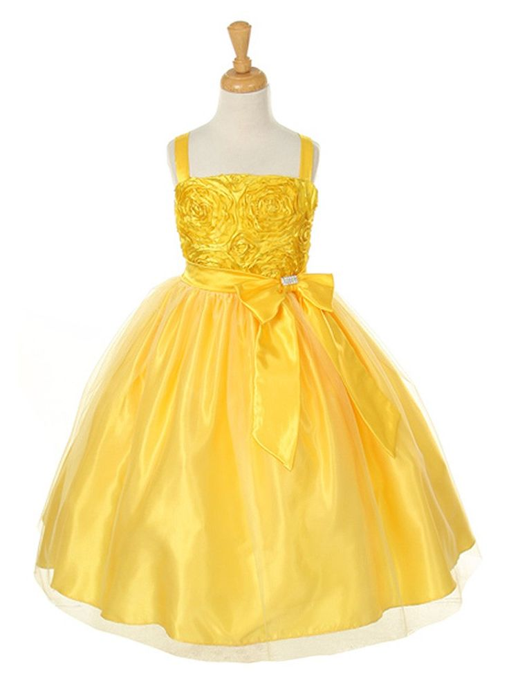 Best 25  Yellow flower girl dresses ideas on Pinterest | Yellow ...