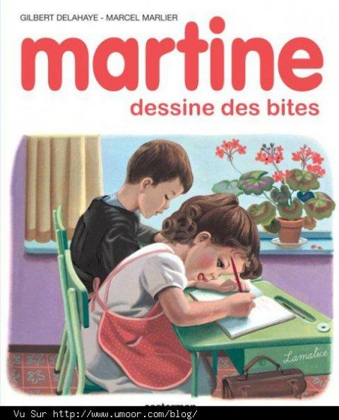 Martine dessine des bites