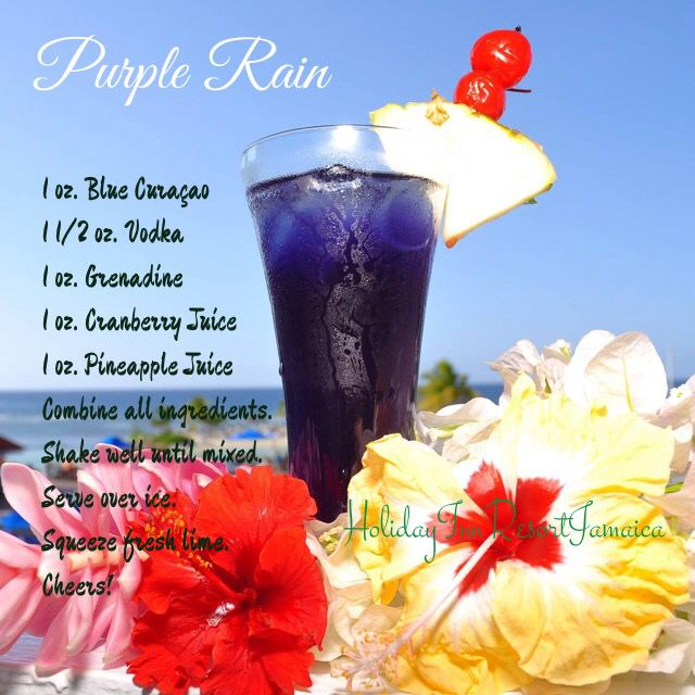 Purple Rain cocktail by Holiday Inn Resort Montego Bay, Jamaica. I drank many of these while I was in Jamaica. YUMMY!