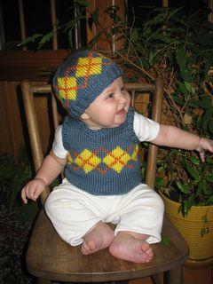 Baby sweater vest pattern