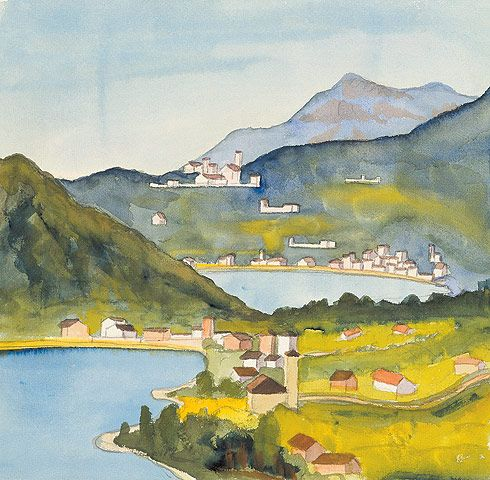 Blick auf Magliaso und Ponte Tresa, 1928         © Fondazione Hermann Hesse Montagnola