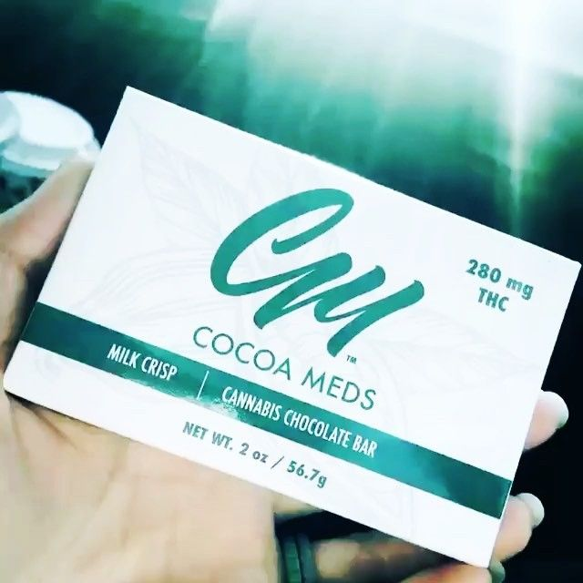 Cocoa Meds Milk Crisp Chocolate Bar is just what you need to pull through your day. .  Loving this video by our friend! #Reposting @thelavenderlynx -- The best. Especially when you have to be running around town going to 5 appointments in one day 😷#cocoameds #medibles #edibles #mmj #mmjgirls #chronicillness #staylifted #staymedicated #higherthanyou #andthenigothigh #somegirlsgethigh #somegirlssmokeweed #stonergirl #stonergirlsdoitbetter #420 #420girls #cannabiscommunity #potheadsociety…