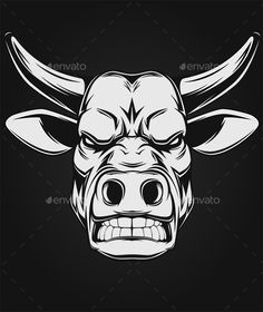 Download Free Graphicriver Ferocious Bull #abstract #aggression #angry #animal #art #attack #background #beast #bull #cartoon #chief #cow #danger #domination #face #force #great #head #horn #horned #icon #illustration #longhorn #nature #power #sign #strong #vector #wild #wildlife