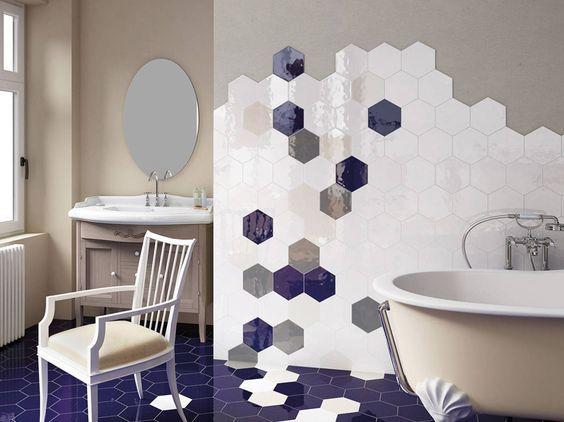 Idee di bagno in blu e bianco bagno bagno piastrelle e