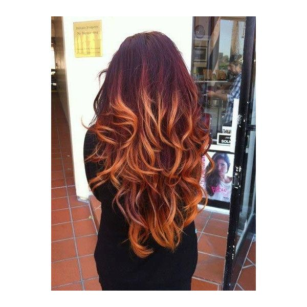 120 best ombre hair images on pinterest ombre hair extensionsdipdyeoff black faded to red blonde copper pmusecretfo Images