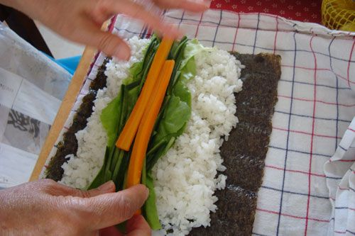 A sushi roll bento, plus how to make sushi rolls without a sushi mat | Just…