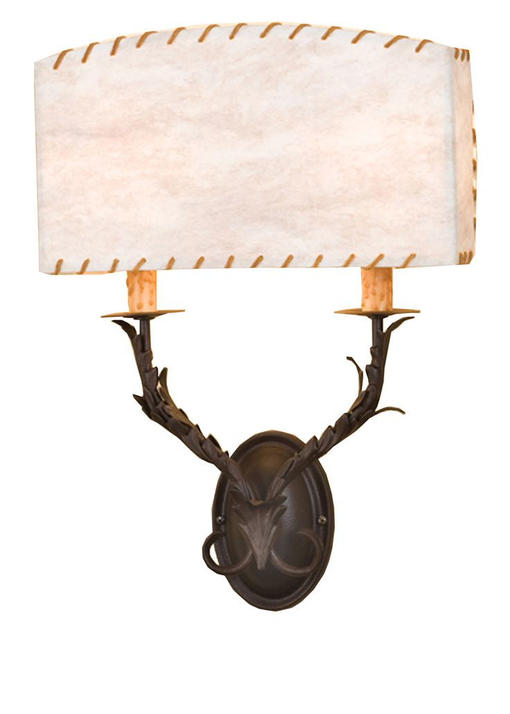 Meyda Tiffany 50679 W Ranchero 2 Light Wall Sconce Timeless Bronze Indoor Lighting Sconces