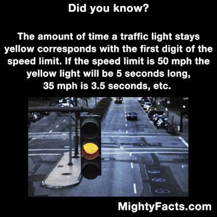 Is there any physics behind this, or did they just come up with this? Traffic lights!