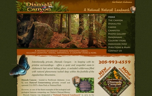 Dismals Canyon Conservatory http://www.dismalscanyon.com/