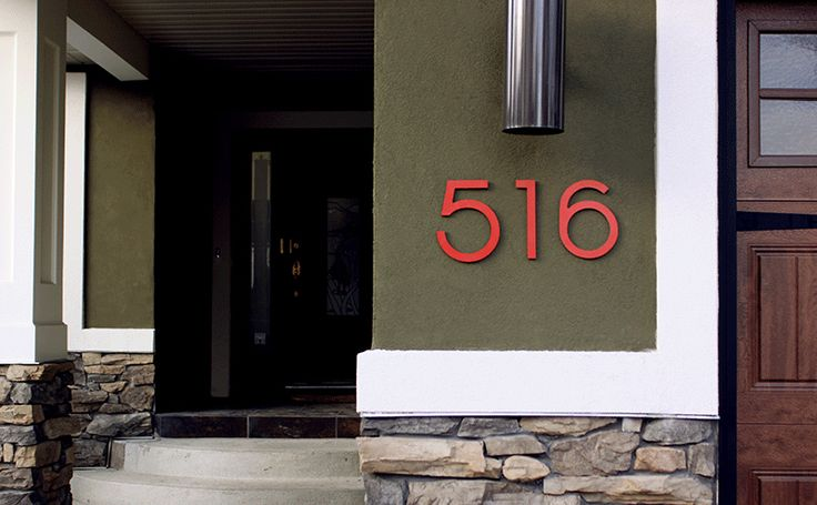 25 best mid century modern exterior house colors images on for Big modern house numbers