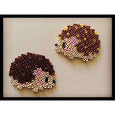 Hedgehog magnets perler beads by chuckie_sue