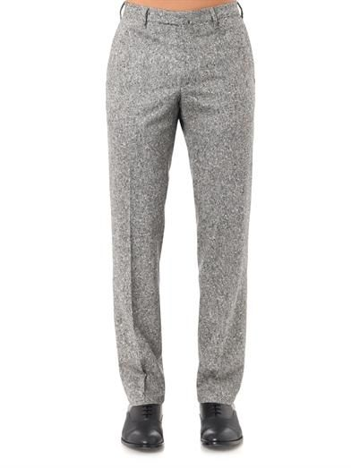 Valentino Salt and pepper-weave tailored trousers